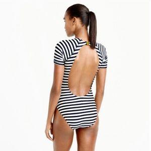 NEW! JCrew Open-back short-sleeve swimsuit